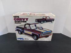 MPC 1978 Chevy Stepside Pickup Model, 1-7814