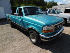 1995 Ford F-150 XLT Pickup Truck, 8' Bed, PW, PL, Auto Cruise, AC, AM/FM, Cassette, Dual Fuel Tanks,