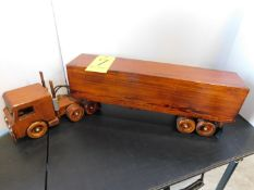 Wood Tractor and Trailer Model