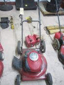"""Craftsman 21"""" Lawn Mower with Trash Cans"""
