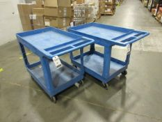 Uline Heavy Duty Plastic Utility Carts