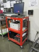 Uline Warehouse Computer Cart