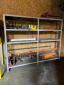 Lot Steel Shelf with Contents