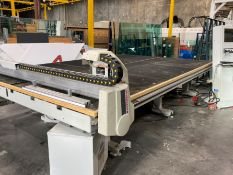 2010 INTERMAC GENIUS 37 CT GLASS CUTTING TABLE; 10' X 16'L, S/N 07301, 400V, ORIGINAL COST $80,000