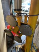 TRANSTECH ARTICULATING JIB CRANE, W/ FLOOR COLUMN; W/ (4) CUP SUCTION UNIT (NEVER USED)