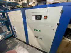 2018 DENAIR 60HP ROTARY SCREW AIR COMPRESSOR, MODEL DVA-45; 102.6CFM; 600V; VARIABLE SPEED (UNUSED)