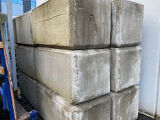 (15) CONCRETE LOCK BLOCKS