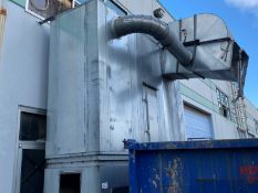 '08 DANTHERM 6 BAG DUST COLLECTOR; MODEL NFP-3H-CL, S/N 315740, 15HP BLOWER