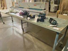 12' METAL FRAMED ROLLING TABLE