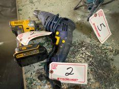 "DEWALT 20V CORDLESS DRILL & MASTERCRAFT 3/8"" ELECTRIC DRILL"