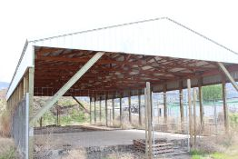 POLE BUILDING, 33' X 80' WOOD TRUSS, METAL CLAD ROOF