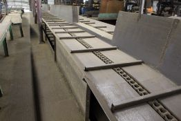 """36"""" FLYTED 36' INCLINE BLOCK INCLINE CHAIN CONVEYOR"""