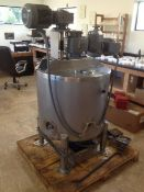 Walker PZ-K 50 Gallon Stainless Steel Jacketed & Agitated Processing Tank - Double action sweep