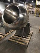 """Stokes 42"""" Stainless Steel Coating Pan - 26"""" diameter opening x 42"""" deep - 2-HP Motor"""