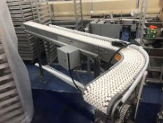 """Dorner Conveyor 6"""" wide x 72"""" long straight section, 90 degree turn, 24"""" long section. Loading is"""