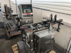 """Icore Autocheck 4000i Inline Checkweigher with (3) 1.5"""" wide belts. Loading is free. Skidding or"""