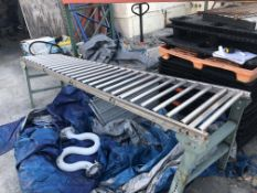 """22"""" wide x 10-ft long roller conveyor. Loading is free. Skidding or crating fees are additional."""