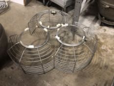 (3) Guards for Hobart mixers (look to be for 80 qt mixers - not confirmed) Loading is free. Skidding