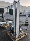 """7.5"""" wide x 75"""" long conveyor. Loading is free. Skidding or crating fees are additional."""