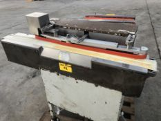"""4"""" wide x 48"""" long bar aligner conveyor with side belts. Loading is free. Skidding or crating fees"""