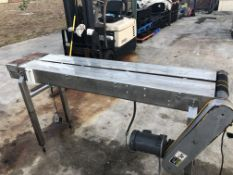 """12"""" wide x 6-ft long stainless steel conveyor without belt. Loading is free. Skidding or crating"""
