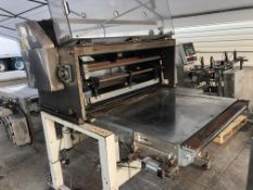 """Guillotine Cutter with 40"""" wide reciprocating knife, 42"""" wide x 72"""" long conveyor without belt, with"""