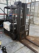 """Crown model SC4020-35TT190 Electric Forklift with 42"""" long forks. Serial#9A121271. Truck weight"""