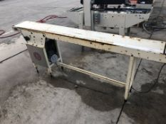 """6"""" wide x 7-ft long conveyor without belt. Loading is free. Skidding or crating fees are"""