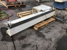 """7"""" wide x 78"""" long conveyor. Loading is free. Skidding or crating fees are additional."""
