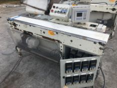 """7"""" wide x 72"""" long transfer conveyor with (8) VFD variable frenquency controls. Loading is free."""
