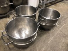 "(3) Hobart Bowls 20"" diameter x 19"" deep (approx. 40 qt bowls) Loading is free. Skidding or"