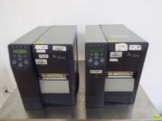 (2) Zebra model ZM400 thermal printers