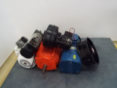 Lot of electric motors and fans