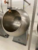 "Acme Coppersmithing 36"" Stainless Steel Coating Pan - 36"" diameter smooth bowl - 24"" opening - 36"""