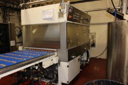"""Chocotec 32"""" Enrober - Model S80, serial#990074 (1999) - Jacketed and agitated holding tank - Wire"""