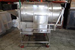 "Seasoning Drum 32"" Diameter x 54"" Long - Stainless steel hopper 34"" x 16"" - 36"" discharge height -"