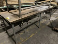 """Carbon Steel 3 x 8 ft Water Cooled Table - 8' long x 3' wide x 31"""" high - Water jacketed. Stock#"""