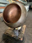 "Otto Hansel 36"" diameter Copper Coating Pan - Model HDM.1X - 25"" Diameter opening - 27"" depth -"