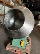"42"" Stainless Steel Angular Coating Pan - 22"" Diameter opening - 38"" depth - 6 welded ribs -"