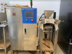 "VEC 4-piston Chocolate Depositor - 275 x 175 mm molds - (4) 1"" diameter pistons - Heated hopper -"