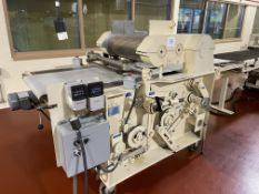 """Werner Lehara 24"""" Wire-Cut Candy Extruder, rolls not jacketed, serial#1-16390, filler block with ("""