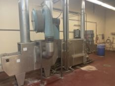 """Kuhl CFW-400 Mold Washer with 11'""""wide belt. Overall dimensions 2 ft x 11 ft. Hydro Therm Gas"""