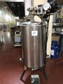 Ben Moore 250-lb Stainless Steel water jacketed and agitated chocolate tank with electric