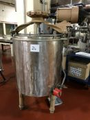 Ben Moore 500-lb Stainless Steel water jacketed and agitated chocolate tank with electric