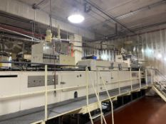 Collmann Hydo-12 Hollow Molding Line with hand fed pre-formed foil molds, mold heater, Two