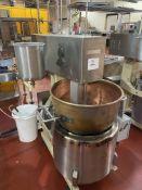 """Savage model S92 Warrior natural gas fired Firemixer, 24"""" diameter x 16"""" deep copper kettle,"""