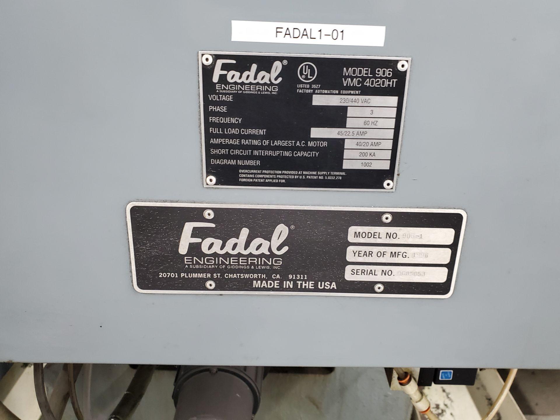 Fadal CNC Vertical Machining Center Model 4020 - Image 2 of 18