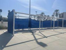 PVC BLUE CABANAS