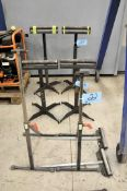 Pair Adjustable Height Roller Feed Stock Stands, (Bldg 1)
