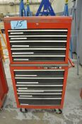 Lot-(1) Craftsman 6-Drawer Rolling Tool Chest with (1) 5-Drawer Flip Top Tool Box
